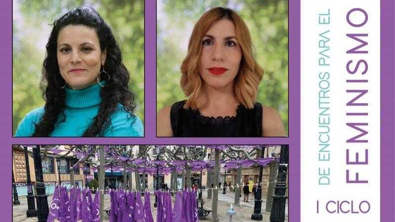 Cartel: VOCES FEMINISTAS DE SORIA - Carol Hamodi y Laura Álvaro - 19.30 H.