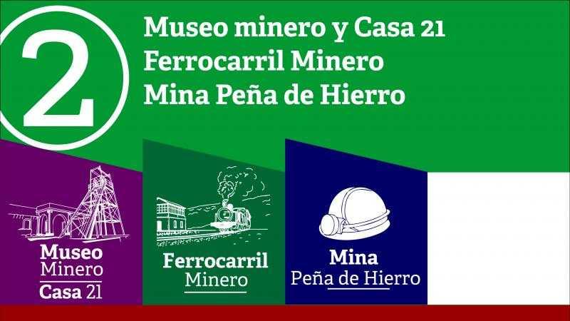 Museo Minero + Casa 21+ Ferrocarril + Peña de Hierro