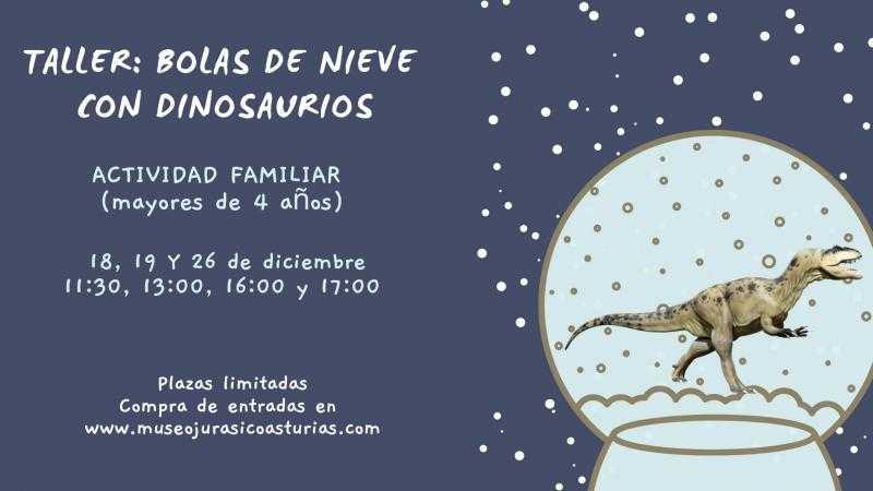 Bolas de nieve con dinosaurios