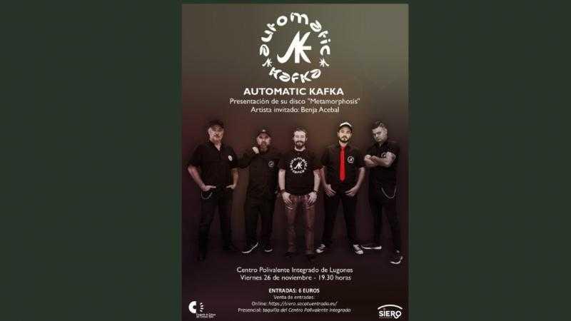 """AUTOMATIC KAFKA Presentación del disco """"Metamorphosis"""" Artista invitado: Benja Acebal"""