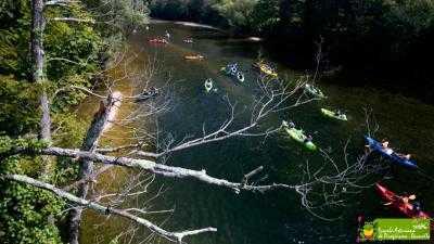 Descenso del Sella en canoas y kayaks