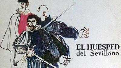 """ZARZUELA   """"EL HUESPED DEL SEVILLANO """""""